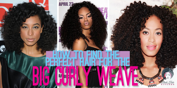 Remarkable The Best Weaves For Big Curly Hair Blackhairkitchen Short Hairstyles Gunalazisus