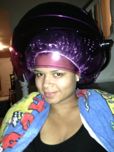 Sit under Dryer with plastic cap