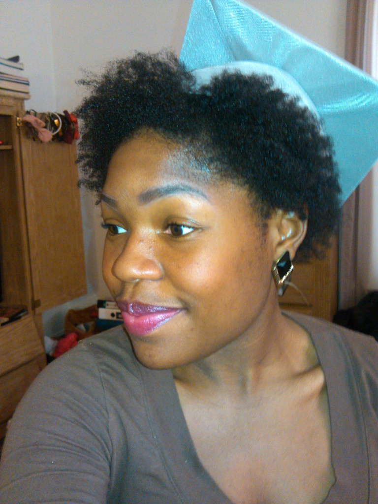 Graduation With Short Natural Hair That Darn Cap
